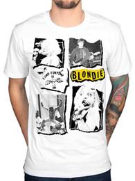Camisa de hombres recortes online-Camiseta oficial de Blondie Cuttings Best Of Blond Coma al ritmo Líneas paralelas Hombres Mujeres Unisex Camiseta de moda Envío gratis negro