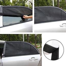 Pare-brise de voiture en Ligne-Pare-soleil de voiture filet 110 * 50cm lunette arrière maille sac housse de fenêtre pare-soleil protection UV pare-soleil visière protecteur protecteur maille LJJZ529