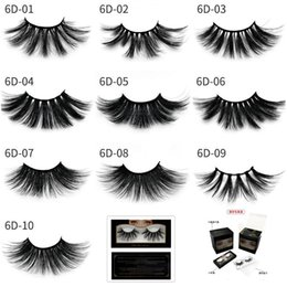 027bfa45284 25mm False Eyelashes Wholesale Thick Strip 25mm 3D Mink Lashes Custom  Packaging Label Makeup Dramatic Long Mink eyelashes