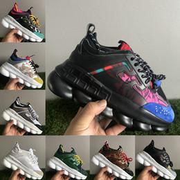Caoutchouc rond noir en Ligne-Meilleure qualité Chain Reaction Noir Multi Couleur Caoutchouc Suede Floral sneakers mens designer chaussures de mode luxe femmes rehaussant chaussures de sport
