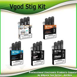 Recharge ecig en Ligne-Kit de démarrage Vgod Stig Pod d'origine 270mAh Kit de stylo ECG Vape à charger rechargeable avec 1,2 ml Pods Portable 100% authentique