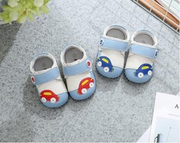 zapatos azules de coche Rebajas Moda rosa y azul color estrella diseño 100% zapatos de bebé de cuero genuino 100 par / lote 0-3TM diseño de coche de músculo de vaca