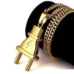 Design de Moda personalizado Jóias Hip Hop Homens plug pingente colares para Chains Man banhado a ouro Fazer a ligação Punk Rock Micro Cadeia Longa de Fornecedores de encantos gato esmalte