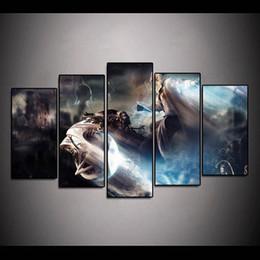 2019 anime bilderrahmen (Nur Leinwand Kein Rahmen) 5 Stücke Final Fantasy Gaming Anime Wandkunst HD Druck Leinwand Malerei Mode Hängen Bilder rabatt anime bilderrahmen