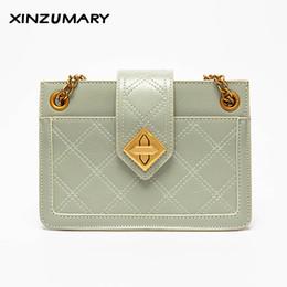 Bolsa crossbody verde on-line-Luxo pequeno saco de ombro para as mulheres sacos de mensageiro Verde senhoras boêmio bolsa de bolsa de couro com bloqueio sacos femininos crossbody
