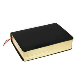 Planificador de cuaderno online-Papel grueso retro Cuaderno de cuero Bloc de notas Diario Libro Cubierta de cuero Revistas Planificador Oficina escolar Papelería de regalo 320 páginas