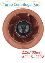 control remoto para gree Rebajas Alta calidad AC-225 mm x 100 mm Turbo ventilador centrífugo, ventilador centrífugo hacia atrás, axial servidor variable del ventilador de frecuencia