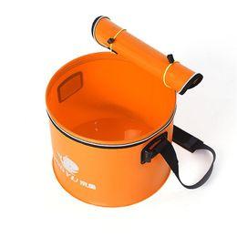 Tanque de pescado portátil online-Nuevo Portátil EVA Barril de Pescado Plegable Pesca Barril Camping Senderismo Cubo de Agua Tanque de Agua Redondo Multifunción al aire libre