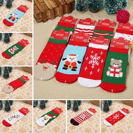 Рождественские тематические детские носки из чистого хлопка с мультяшным принтом красные рождественские детские носки впитывают проницаемость пота от