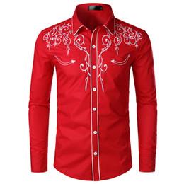 2019 hinzufügen von ärmeln kleid Mens Stickerei Designer-Kleid Shirts Art und Weise drehen unten Kragen Shirt Langarm