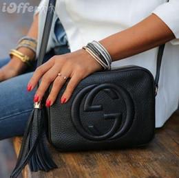 Bolsos pp online-Nueva alta calidad del estilo mujeres de la manera mujeres cubren la borla Soho Disco Bolsa de hombro bolsos del monedero del bolso con la bolsa de polvo