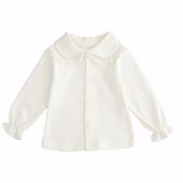 Camicie Camicie Cappotto Camicetta Autunno Girocollo Camicia bianca Camicia bambino Camicetta in pizzo Camicetta Vestiti 2 stile da
