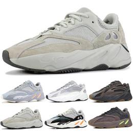 40827471a6c Adidas Nouveau yeezy 700 boost Wave Runner chaussures de course pour hommes  femmes Static 3M refletive Mauve Multi Solid Gris mens formateurs de sport  ...
