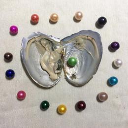 Argentina Ostra de agua dulce 2018 AAA 9-12 mm con perlas Edison individuales 16 colores mezclados Círculo perla natural de calidad superior en paquete de vacío para joyería Suministro