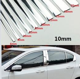 2019 strisce di cromatura per auto styling auto Larghezza 10MM Chrome Trim Styling autoadesivo modellatura della Esterno Arredamento 1M / 2M / 3M / 5M / 10M / 15M sconti strisce di cromatura per auto