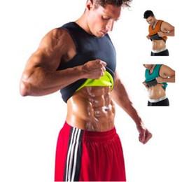 Abiti da sauna online-Maglia da uomo Shaper Body Shaper Maglia da allenamento in neoprene Shirt Thermo Slimming Sauna Suit Perdita di peso Shapewear Corsetto a compressione S-5XL A42305