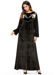 2020 koreanische roben 187261 Baju Muslim Simple Robes Korean Samt Langärmeliges, einfarbiges Kleid Isulusulu Ni Marama Vakaveiwekanitaka Moslimvrouwen Jurk günstig koreanische roben