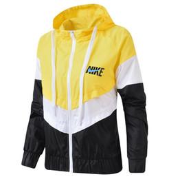 cremallera exterior Rebajas Otoño nuevo diseñador de la marca chaqueta deportiva a prueba de viento para mujer running fitness manga larga chaqueta con cremallera abrigos abrigos abrigos 4 color amarillo
