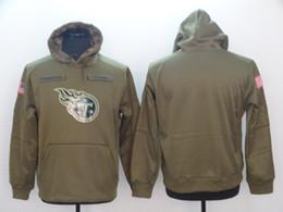 Titã hoodie on-line-2018 Tennessee Sweatshirt Titans Homens Mulheres Juventude Saudação para Serviço Sideline Therma Desempenho Pullover Moletom Com Capuz Azeitona