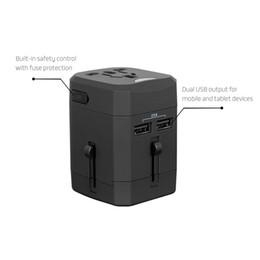 Universal-Reiseadapter All-in-One-Ladegerät für den weltweiten Reisestecker Reisesteckdose Internationaler Netzadapter mit 2 USB-Anschlüssen und US EU UK AU-Stecker von Fabrikanten