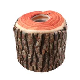 2019 scatola di corteccia Imitation Tree Bark Tissue Box Portatovaglioli Custodia di carta Copertura Home Cucina Pratico Accessorio decorativo scatola di corteccia economici