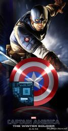 Capitão américa poder banco on-line-Powerbank 6800 mah capitão américa power bank usb carregador para o telefone móvel inteligente 6800 mah universal bateria externa portátil 2019