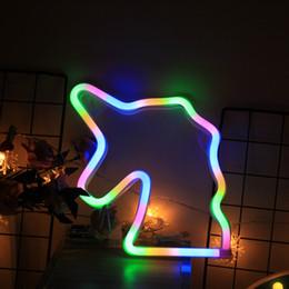 enseigne au néon des beatles Promotion Lampe de chevet LED de bande dessinée de chevet bande dessinée Enfants Bébé Licorne Animal Lampe de table de tête Décoration Utilisation