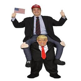2019 ropa divertida Donald Trump Pants Party Dress Up Trajes de Ride On Me Carry Back Juguetes de Halloween Party Fun Cosplay Ropa CCA10821 6pcs ropa divertida baratos