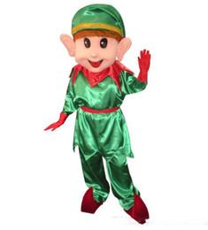 Personnalisé professionnel Belle De Noël Elf Mascot Costume Caractère vert garçon Mascotte Vêtements De Noël Halloween Partie Fantaisie Robe ? partir de fabricateur