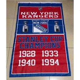 Rangers stanley cup online-New York Rangers 3x5 Stanley Cup Champions Bandera Decoraciones para regalos de la bandera Inicio Banner