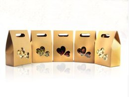 2019 klare pvc-kisten für süßigkeiten 50 stücke Kraftpapier Party / Hochzeitsgeschenk Taschen, kuchen / schokoladen / Süßigkeiten Verpackung Taschen Aufstehen Klar PVC fenster dichtung boxen günstig klare pvc-kisten für süßigkeiten