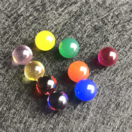 Quartzo de jade on-line-Novo 6mm Jade Diamante Ruby Terp Pérola Bola Inserir Vermelho Verde Azul Amarelo Pérolas Ruby Ball Insert para Quartz Banger Prego