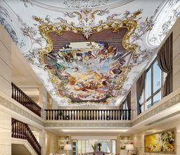 pinturas clássicas anjos Desconto teto Europeia anjo pintura a óleo clássica pinturas murais Sala teto Wallpaper