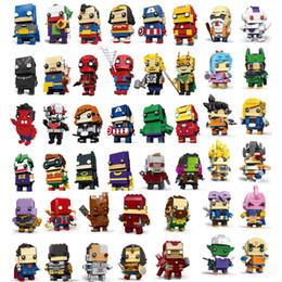 2019 figures d'animaux de la forêt 58 dessins anime chiffres jouets merveille avengers spiderman dragon ball goku figurines blocs de construction anime chiffres jouets enfants SS176