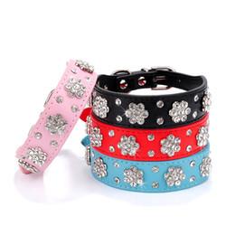 chihuahua halsbänder Rabatt Strass Hundehalsband Bling Diamond Leder Welpen Katze Kragen für kleine mittlere Hunde Chihuahua Yorkshire Beagle Pet Supplies