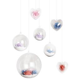 Елочные украшения Tress Ball Прозрачный Открытый Пластиковый Прозрачный Орнамент Елочные украшения Xmas Поставки наполнения от Поставщики белые боа-хаусы оптом