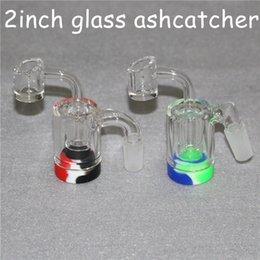 2019 encendedores de pistola Glass Reclaim Catcher ash catcaher handmake con clavo Banger de cuarzo de 4 mm y envases de cera de silicona de 5 ml para bong de vidrio de plataforma dab