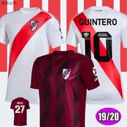 Prato do rio on-line-2019 River Plate home branco Camisas de futebol River Plate afastado Vermelho G.MARTINEZ QUINTERO PRATTO BORRE 19/20 leito de futebol Kit Uniforme