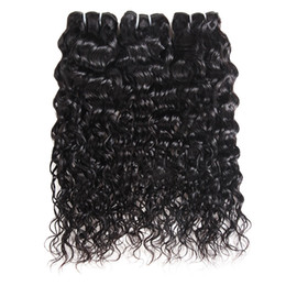 brazilian wet wavy hair Coupons - Brazilian Virgin Hair Water Wave 3 Bundles Wet And Wavy Virgin Brazilian Human Hair Bundles Malaysian Curly Weave Hair Extensions