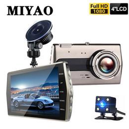 """2019 ночное видение h198 Full HD 1080P 4 """"IPS Автомобильный видеорегистратор Камера с двумя объективами Передний задний видеорегистратор Ночного видения Автомобильная камера Видеорегистратор G-сенсор"""