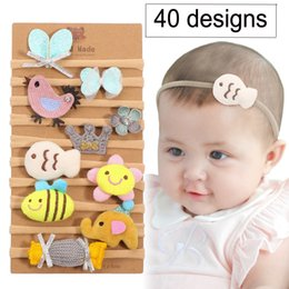 feathers hair style Coupons - 40 Designs New Fashion baby candy colors Bow Designer headband Cute Animals Style baby girl elegant hair bows accessories