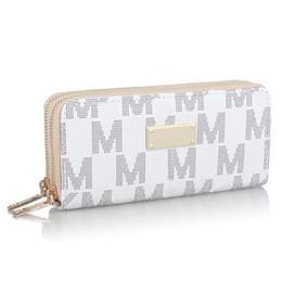 М кошельки онлайн-2019 дизайнер роскошных сумочек кошельки женский кошелек бренд кошелек для монет двойная молния искусственная кожа МК клатч сумка для денег держатель карты B61303