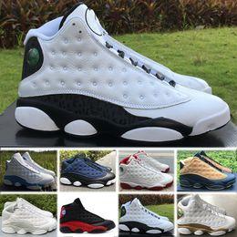 reputable site 95b73 eee0e Nike Air Jordan 13 Retro basketball shoes Mit Box 2018 Mode Neue Designer Schuhe  J13 Low Spurs Weiß Schwarz Casual Schuhe Schuh 13 Designer Schuhe Größe ...