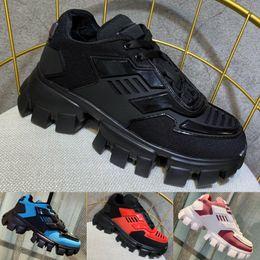 grandes semelles Promotion Nouvelle arrivée Mens Cloudbust Thunder Knit Sneakers Designer de luxe Oversize Sneaker Semelle en caoutchouc léger 3D formateurs Womens grande taille Triple chaussures