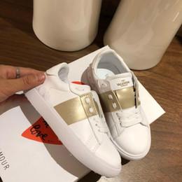 Scarpe casual online-fascia alta bambini ragazzi ragazze scarpe in pelle moda scarpe per bambini allenatore sportivo scarpe da ginnastica