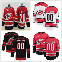 187f671e7 Custom Carolina Hurricanes Hockey Jersey 2019 New 20 Sebastian Aho 11 Staal  64 Clark Bishop 44 de Haan 27 Justin Faulk Ferland Jerseys
