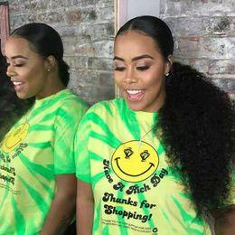Cabello humano natural piezas afro online-140g Afro rizado cola de caballo rizada del pelo humano para las mujeres negras remy del color natural del pelo 1 pedazo Clip en la extensión del pelo de la cola de caballo del lazo