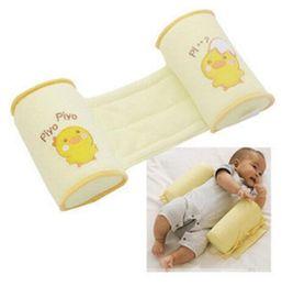 almohada de dormir lado del bebé Rebajas Anti cabeza plana almohada del bebé cuna Cojín de apoyo almohada de enfermería Anti-vuelco Lindo de dibujos animados Anti-roll lado Sleeper Sleeper