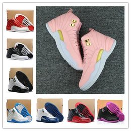 da8b743cb5cd90 2019 High Quality Women 12 12s GS Hyper Violet Youth Pink Valentines Day  Basketball Shoes Girls The Master Taxi Sneakers discount women valentines  sneakers