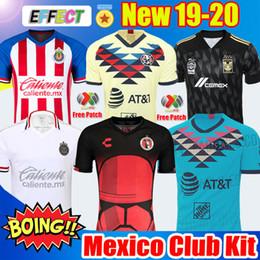 2020 terceira camisola New Chegou 2019 20 Clube América Camisas de Futebol 2020 México Club de Cuervos Casa Longe Terceiro Guadalajara Chivas kit 19 20 Camisas de Futebol soccer jersey terceira camisola barato